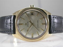 Omega Seamaster Automatic 14k Yellow Gold Watch 35mm Cal 560
