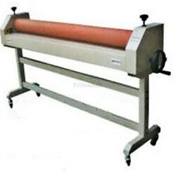 63and039and039 Cold Laminator Roll Laminating Machine New Manual Roller Desktop Iy