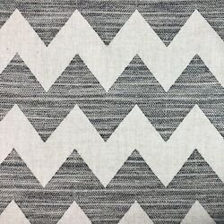 Clarence House Woven Chevron Upholstery Fabric Henderson In Charcoal 8 Yards