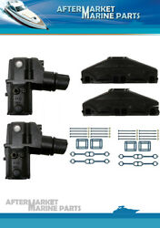Set With Extra Tall Elbows And Manifold For Volvo Penta 5.0 And 5.7l 3847501