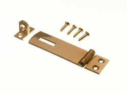 New Security Hasp And Staple For Pad Locks Brass 63mm And Screws Pack Of 200