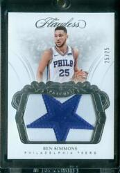 25/25=1/1 Ben Simmons 2017-18 Panini Flawless Patches Full Star Patch 76ers