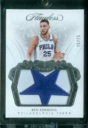 2525=11 Ben Simmons 2017-18 Panini Flawless Patches Full Star Patch 76ers