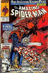 Stan Lee & Todd McFarlane Signed The Amazing Spider-Man #325 Comic BAS #E35326