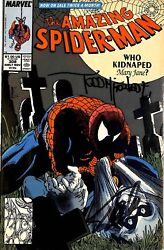 Stan Lee & Todd McFarlane Signed The Amazing Spider-Man #308 Comic BAS #E35325