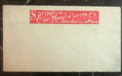 Mint Usa Springfield Cigar Tobacco Manufacturing Envelope Cover Sealed