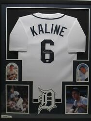 Al Kaline Autographed Detroit Tigers Jersey Matted And Framed W/ Photos Jsa Coa
