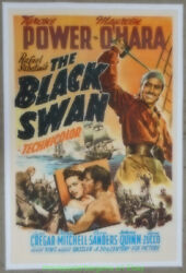 The Black Swan Movie Poster 1942 One Sheet On Linen Tyrone Power