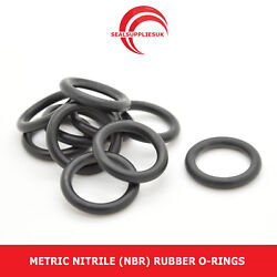 Metric Nitrile Rubber O Rings 5mm Cross Section 91mm-120mm Id - Uk Supplier