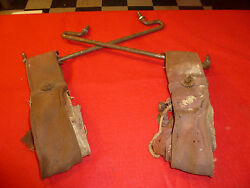 1938-40 Packard Senior Rear Seat Assist Strap And Brackets