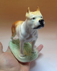 Staffordshire Bull Terrier Porcelain Figurine Russian Souvenirs Pit Bull Terrier