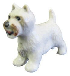 West Highland Terrier Miniature Porcelain Figurine Approx 2 cm High