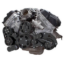 Black Ford Coyote 5.0 Serpentine System Ac, Power Steering And Alternator
