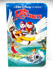 The Rescuers - VHS Walt Disney 1992 Black Diamond The Classics Movie#1399 TESTED