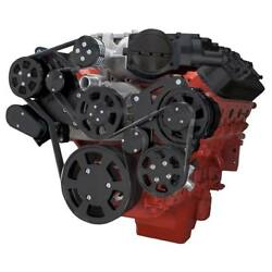 Black Chevy Lsa And Ls9 Serpentine Kit - Ac And Power Steering