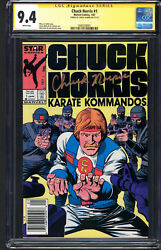 Chuck Norris 1 Cgc Ss 9.4 Nm White Pages Chuck Norris Signature Series Signed