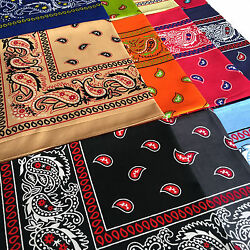 LOT OF 12 PCS Mix Color Bandana Head Wrap Scarf 100% Cotton