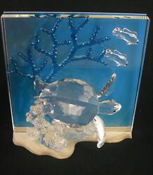 """Crystal 8"""" Wonders Of The Sea Turtle - Eternity With Box"""
