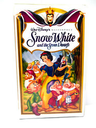 Snow White and the Seven Dwarfs - VHS Walt Disney 1994 Masterpiece - TESTED