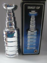 Mario Lemieux Pittsburgh Penguins Signed Mini Stanley Cup Trophy 8 Tall Jsa Coa