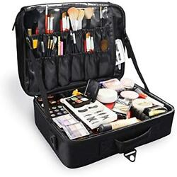Large Professional Cosmetic Bags Portable Travel Makeup Organizer Case Box For