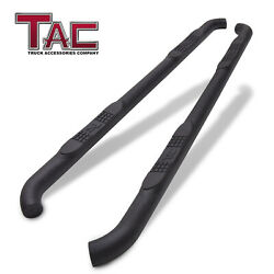 For 2005-2021 Nissan Frontier Crew Cab 3 Texture Side Step Rails Running Boards