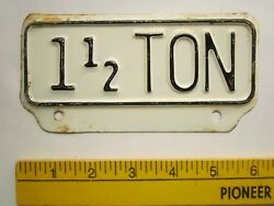 License Plate Tag Weight Topper 1956 Kansas 1 1/2 Ton Trailer Tab [z289d10]