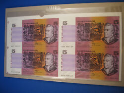 1990 Block Of Four 5 Fraser / Higgins, One With First Prefix Qdf. Low Number