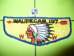 Oa Waupecan Lodge 197,s1a.1950s First Flap,ff,indian,rainbow Council,illinois,il