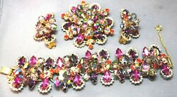 2 Die 4 Juliana Delizza And Elster Halo Carnival Color Bracelet, Brooch And Earrings