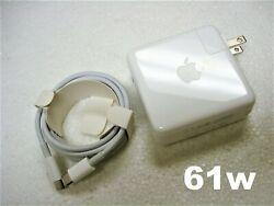 Original Oem Apple 13 Macbook Pro With Usb-c Port 61w Charger + Cable A1718