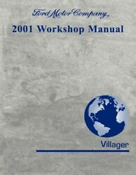 2001 Mercury Villager Shop Service Repair Manual