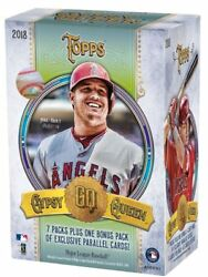 2018 Topps Gypsy Queen Baseball 8 Pack Blaster 16 Box Case Factory Sealed