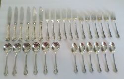 Towle French Provincial Sterling Silver Luncheon Set Service For 6 30-piece