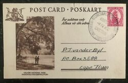 1952 Capetown South Africa Postcard Cover Locally Used Kruger National Park
