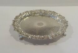 Kirk Repousse Sterling Silver 10 Footed Tray C. 1896-1924 565 Grams