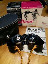 Vintage 7x35 10 Wide Kalimar Bins W/case And Box Cleaned, Lubed, Optically +