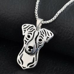 New Trendy Jack Russell Terrier Necklace Dog Pet Lover Gold Silver Women Jewelry