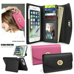 Premium Leather Cash Clutch Wallet Card Slot Case Cover for iPhone 8 7 66s Plus
