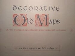 Decorative Old Maps From The 16th 17th And 18th Century Fine Color Penn Prints