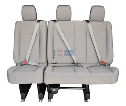 2018 2017 2016-2011 Nissan Nv 3500 2500 2nd Or 3rd Row Bench Seat Grey Cloth