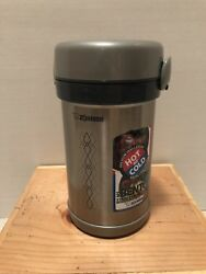 Zojirushi Lunch Box 0.6 Gothermos Stainless Bento Bottle Sl-nc09-st From Japan