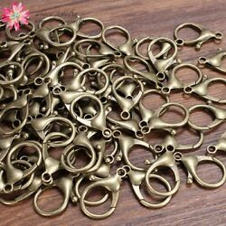 50pc lots Large Antique Bronze Bag Lobster Clasp Clips Snap Hooks For King Ring $11.72