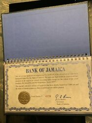 8 Sets 1977/76 -bank Of Jamaica Complete Note Set With Original Case And Sleeve