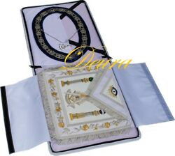 Paster Master Masonic Collar Apron Silver Jewel Case Complete Package Pm-8000s