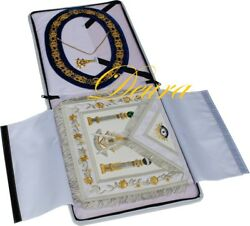 Paster Master Masonic Collar Apron Gold Jewel Case Complete Package Pm-8000g