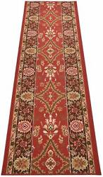 Custom Size Runner Rug Mahal Traditional Oriental Red Non Skid Rug Runners 36 W