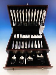 Michele By Wallace Sterling Silver Flatware Set For 12 Service 56 Pieces