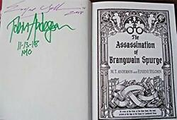 M. T. Anderson The Assassination Of... Signed 2x Dated Nyc 2018 Hc 1st.1st.