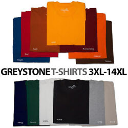 BIG and TALL Greystone T-Shirts & HEAVY DUTY 3X 4X 5X 6X 7X 8X 10X 12X 14X $23.95